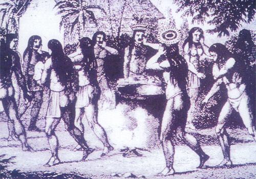 古代インカの人々の様子